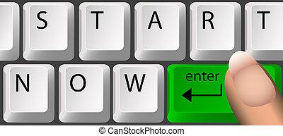 teclado, ahora, comienzo