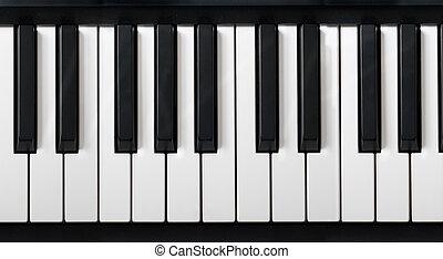 teclado del piano, electrónico