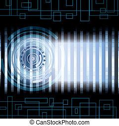 Tecnológico abstracto azul
