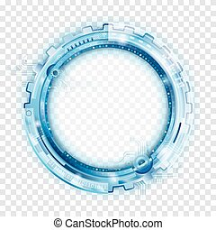 Tecnología abstracta circular