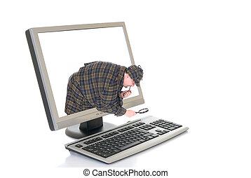tecnología, computadora, hola