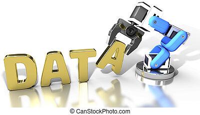 Tecnología de almacenamiento de datos robótica