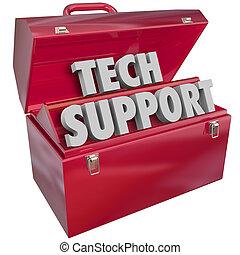 Tecnología de apoyo a las palabras de la caja de herramientas de información informática ayuda