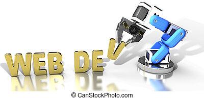 Tecnología de desarrollo de la web robótica