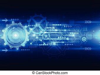 Tecnología de futuro de ingeniería abstracta Vector, historial de telecomunicaciones eléctricas