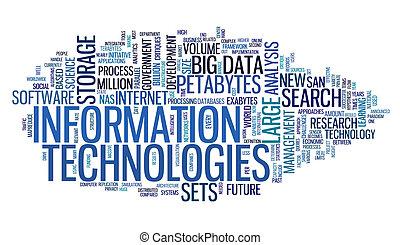 Tecnología de la información en la nube de etiqueta