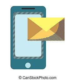 Tecnología de teléfono inteligente con mensaje electrónico