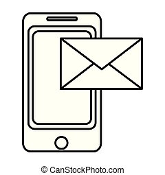 Tecnología de teléfonos inteligentes con mensaje electrónico