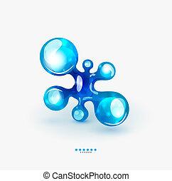 tecnología, emblema, líquido, empresa / negocio