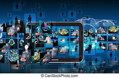 tecnología, empresa / negocio, plano de fondo