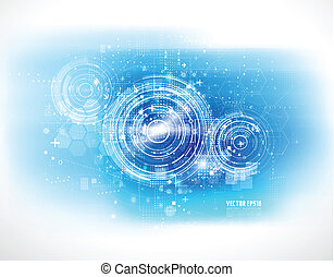 Tecnología futurista fondo digital, ilustración Vector