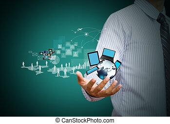 Tecnología inalámbrica, redes sociales