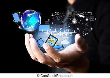 Tecnología moderna y redes sociales