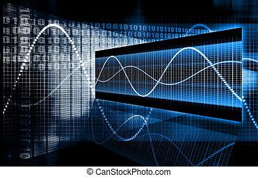 tecnología, multimedia, datos
