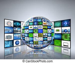Tecnología mundial de los medios