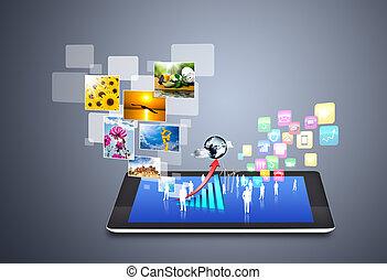 Tecnología y íconos de las redes sociales