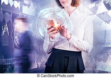 Tecnología y concepto de red