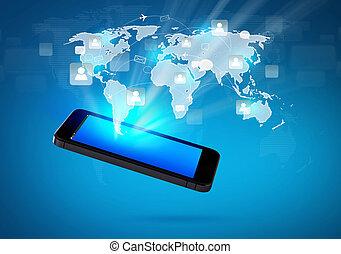 Tecnologia moderna de comunicación móvil con red social