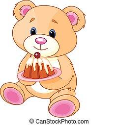 teddy, pastel, oso