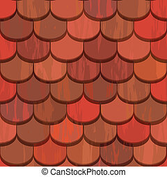 Tejas de arcilla rojas inservibles