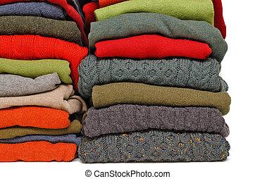 tejer, irlandés, invierno, cable, aran, hombres, contra, colores, fornido, otoño, cachemira, blanco, lana, suéteres, pila