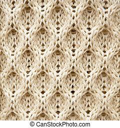 tejido, lana, aran, plano de fondo