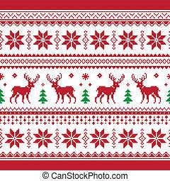 tejido, seamle, navidad, invierno