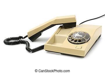 Teléfono aislado en blanco