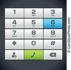 teléfono, blanco, número, telclado numérico