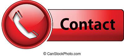 teléfono, contacto, button., icono