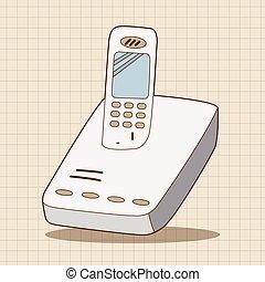 Teléfono de dibujos animados