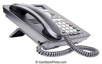 Teléfono de la oficina IP aislado en blanco