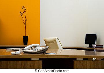 teléfono, escritorio