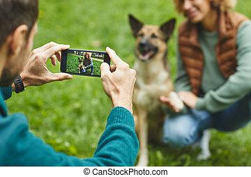 teléfono, foto, elaboración