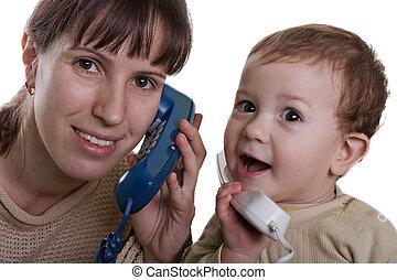 Teléfono hablando