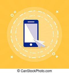 Teléfono inteligente con cursor de ratón