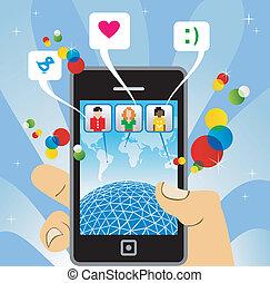 Teléfono móvil: conectar con la red social