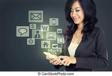 Teléfono móvil de tecnología de comunicación moderna