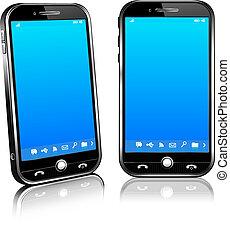 Teléfono móvil inteligente 3D y 2D