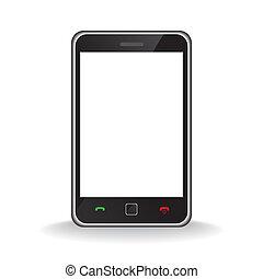 teléfono móvil, moderno, elegante