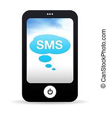 teléfono móvil, sms