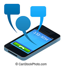 teléfono móvil, social