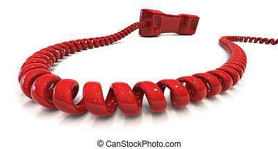 teléfono, -, rojo, hotline