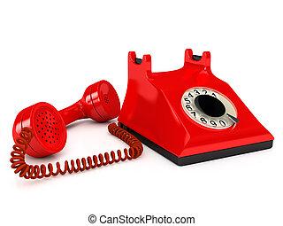 Teléfono sobre blanco