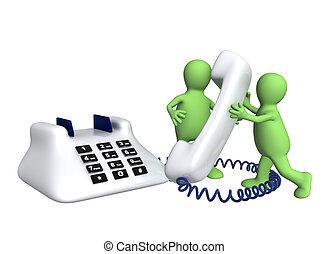teléfono, títeres
