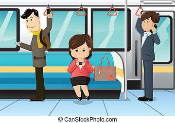 teléfonos celulares, tren, utilizar, pueblos