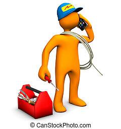 teléfonos, electricista