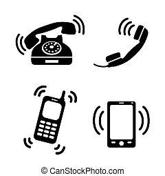 teléfonos, resonante, colección