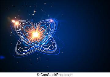 Telón de fondo de átomo