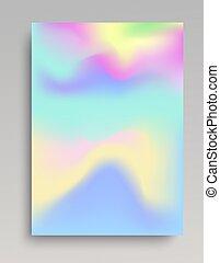 Telón de fondo de color frío ondulado